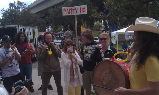 Party HQ everywhere at Figment 2013.
