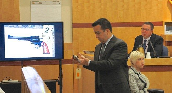 Prosecutor David Uyar during trial. Photo by Eva