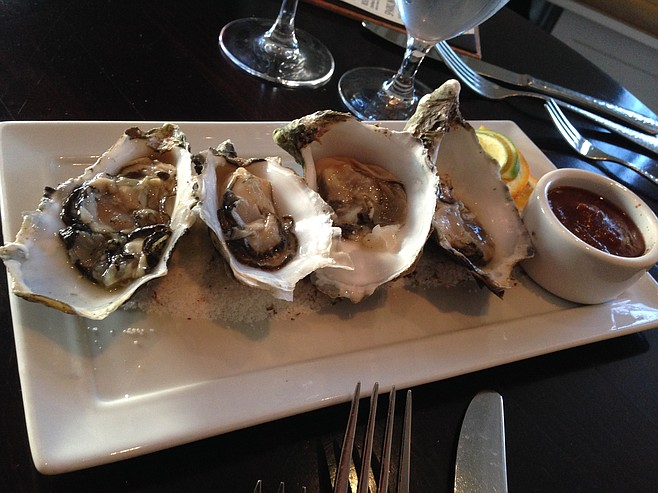 Oysters at the Red Door restaurant