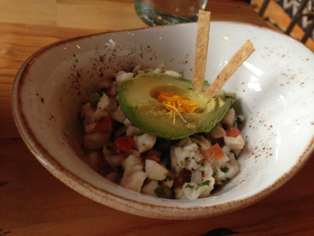 Ceviche de Acapulco at Puesto La Jolla (mahi mahi, tomato, onion, avocado, serrano chile, lime)
