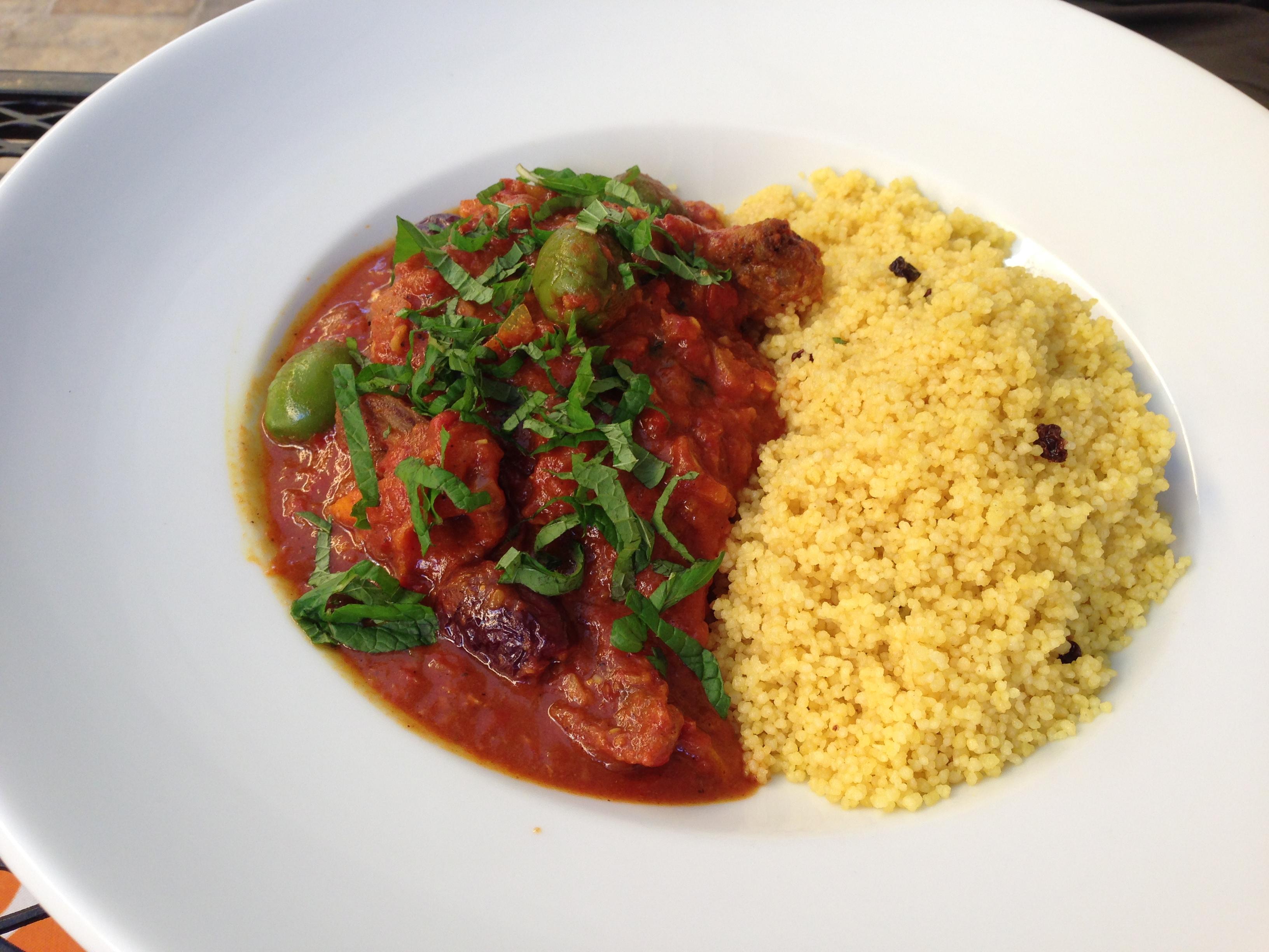 Moroccan chicken tajine at Hanna's Gourmet