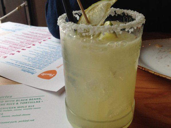 The Puesto Perfect Margarita at Puesto La Jolla: Maestro Dobel Tequila, lime and agave nectar