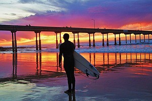 International Surfing Day and the high is 80˚ - what a perfect day. Photo by San Diego Scenic Photography.