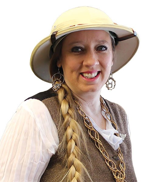 """Lisa """"Lady Amethyst"""" Vaca deflects all suggestions that she's an ambassador for local steampunks."""