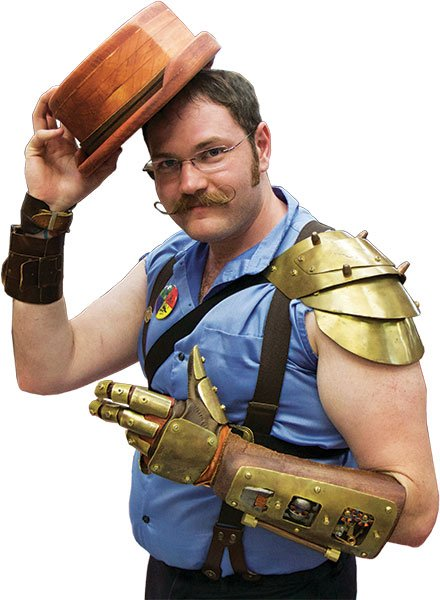 Thirty-year-old engineer Adam Green enjoys creating steampunk costumes and devices.