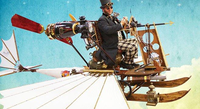 Jeffrey Vaca rides in Kim Hutsell's Strato Sculpin