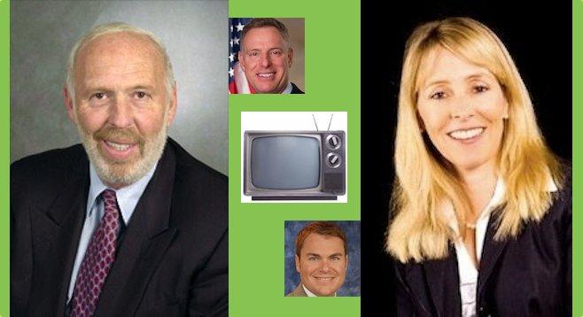 James Simon, Scott Peters, Carl DeMaio, Elisabeth Kimmel