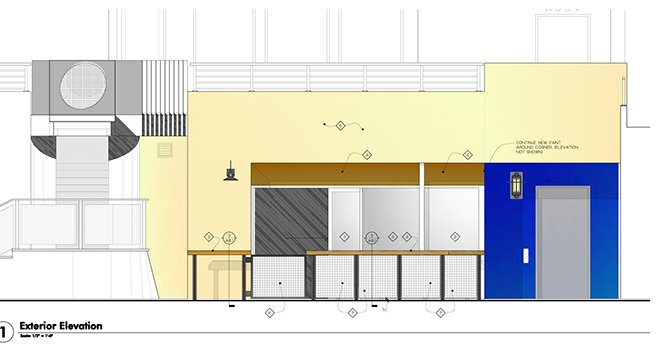 Exterior plans for the Cardiff Confessional.