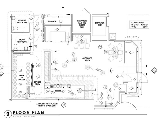 Lost abbey s cardiff confessional san diego reader for Brewery floor plan