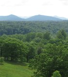 View of the Blue Ridge Mountains from the Biltmore Estate, North Carolina