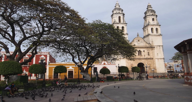 Campeche's cathedral dates to the 16th century, as does the town itself.