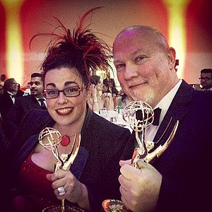 His-and-her Emmys