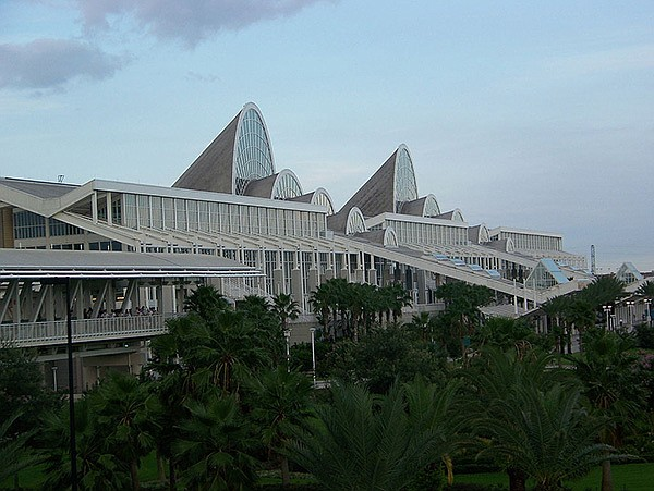 Orange County Convention Center in Orlando, Florida, is the second largest in the country, behind Chicago's McCormick Place.