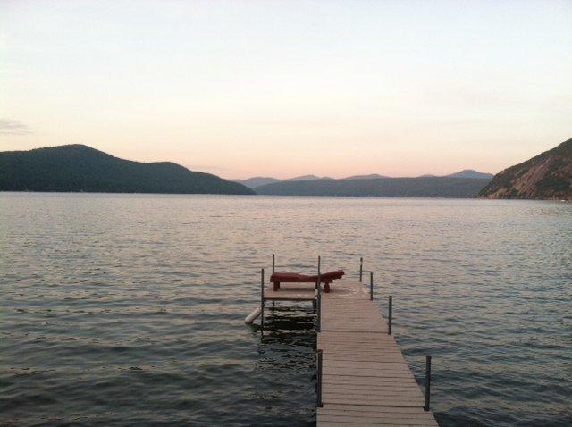 Morning awakens on Lake George