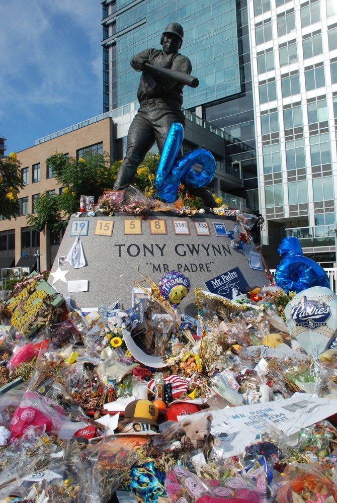 """""""San Diegans show their love for Tony Gwynn - Stay Gold Tony boy... Stay Gold...!!!"""""""