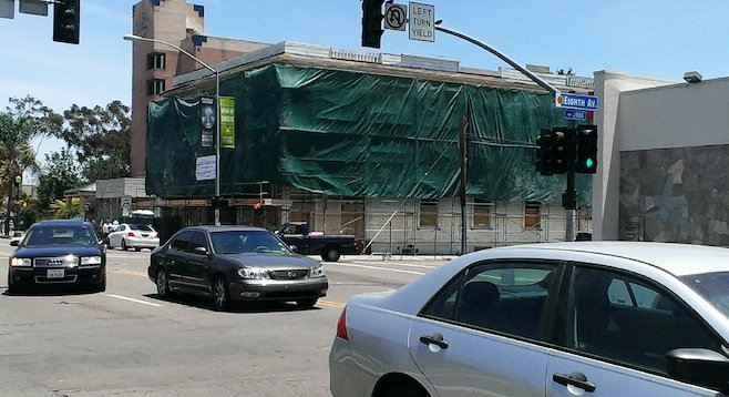 West side of building (on University Avenue)