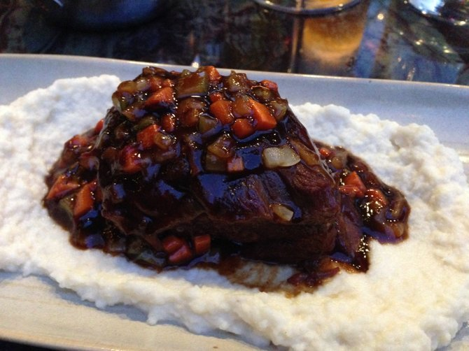 Deeply rich and luscious short rib