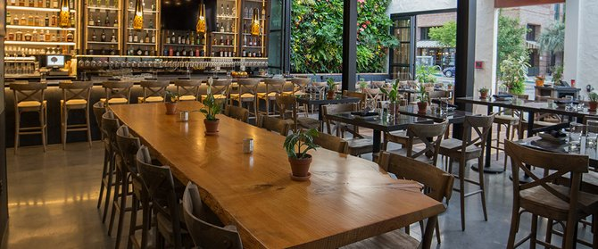 Interior view of the Patio on Goldfinch