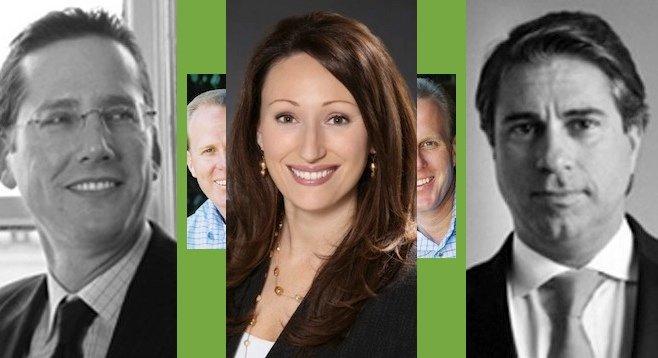 Duane Dichiara, Janelle Riella, Jason Roe (Faulconer in the background)