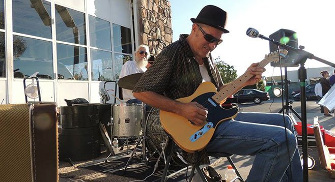 Bluesman Chickenbone no longer entertains Tasty Truck Tuesdays.