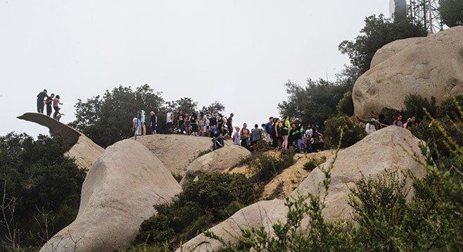 Potato Chip Rock — a popular photo op