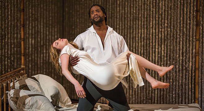Why does Othello distrust Desdemona while their wedding cake's still fresh?