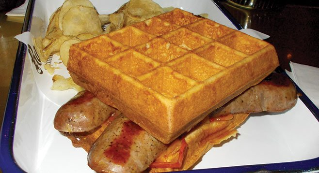 Knockwurst waffle