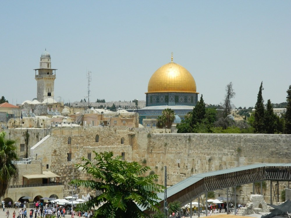 One of the oldest Muslim architectural/holy sites: Dome of the Rock in Old City Jerusalem.