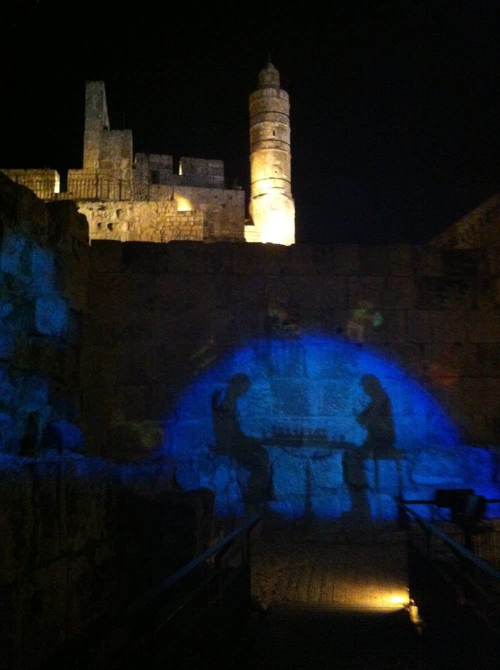 Prelude to the Night Show at Tower of David.