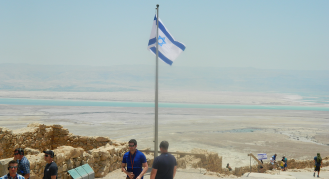 Overlooking the Dead Sea from Israel's Masada, a fortress dating back to the first century B.C.
