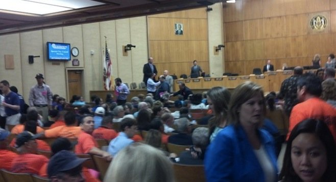 Citizens packed council chambers for the vote