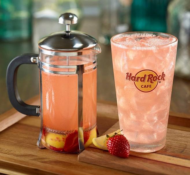 Hard Rock Cafe's Red Berry Press: Homemade lemonade, SVEDKA Clementine Vodka, fresh lemons, strawberries and raspberries.