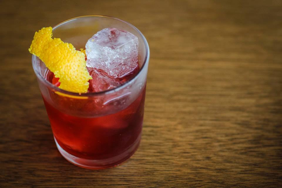 Monello's Il Corso: Equal parts of house made vermouth (secret recipe aromatized wine of 26 herbs and botanicals), campari, and bourbon.