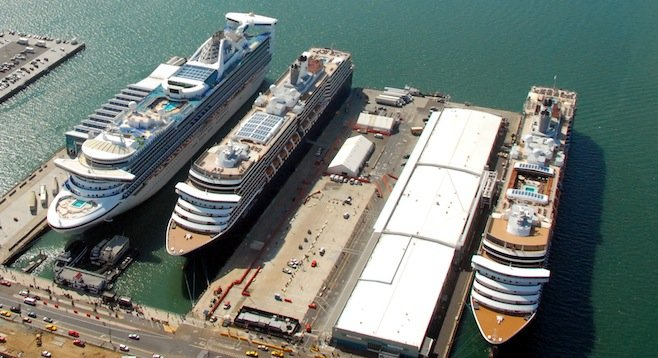 Cruise ships in San Diego no longer have to idle their diesels - Image by Port of San Diego/Wikipedia