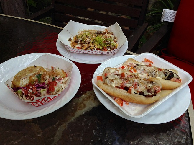 What ten bucks buys: two dogs, two tacos