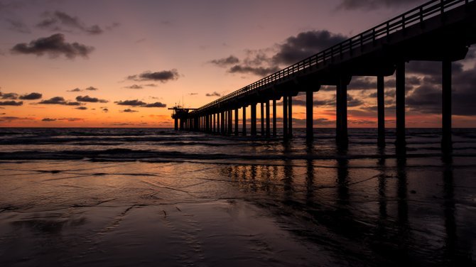 The sunset at Scripps Pier in La Jolla, Ca is just another reminder of how beautiful and amazing San Diego is!