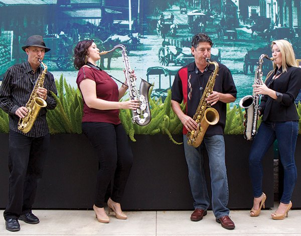 Sax players above (left to right): Jim Weiss, Allison Bowles, Diego Armijo, Mikayla Winner.