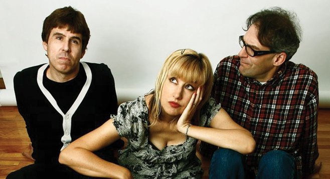 The Muffs' Kim Shattuck (between those two guys) has an amp for sale.