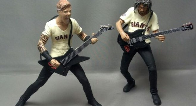 Metallica in miniature: Kirk Hammett will be handing them out himself.