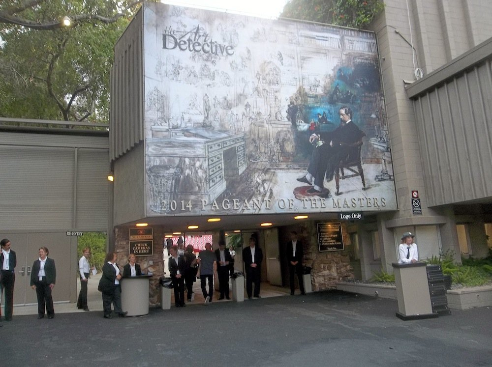 Entrance to the Pageant of the Masters.