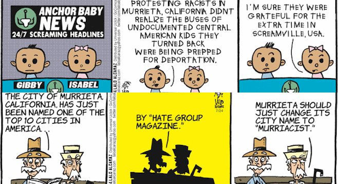 The July 14 strip (top) and the one from July 24