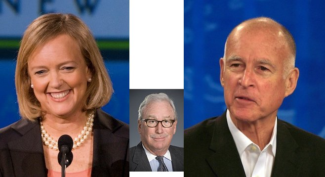 Meg Whitman, Michael Peevey, Jerry Brown