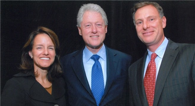Lynn Gorguze, Bill Clinton, Scott Peters