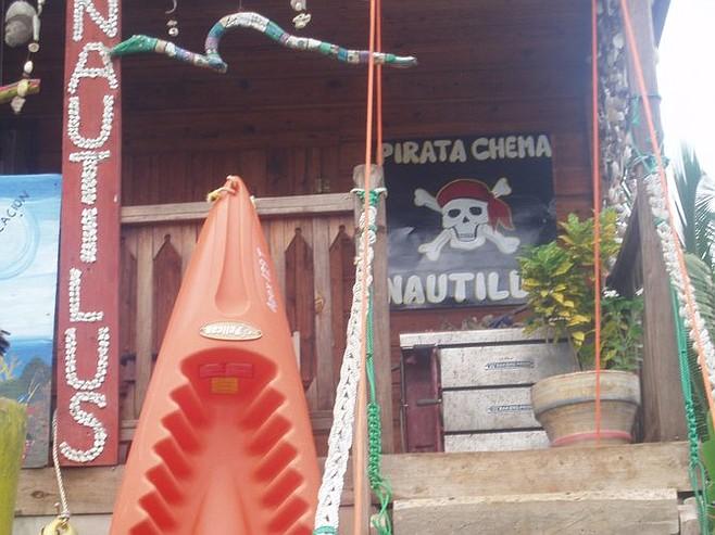 Pirate Chema's dive shop.