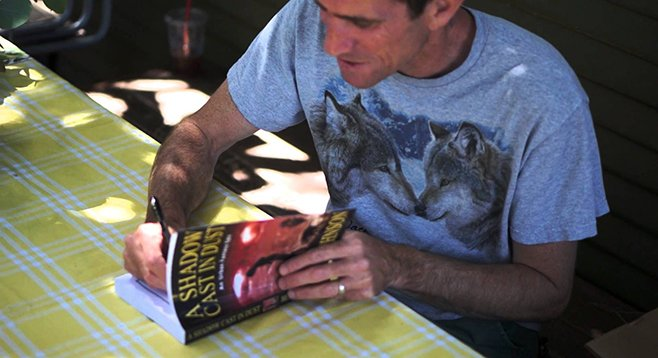Urban fantasist Ben Johnson signs his new novel, A Shadow Cast in Dust.