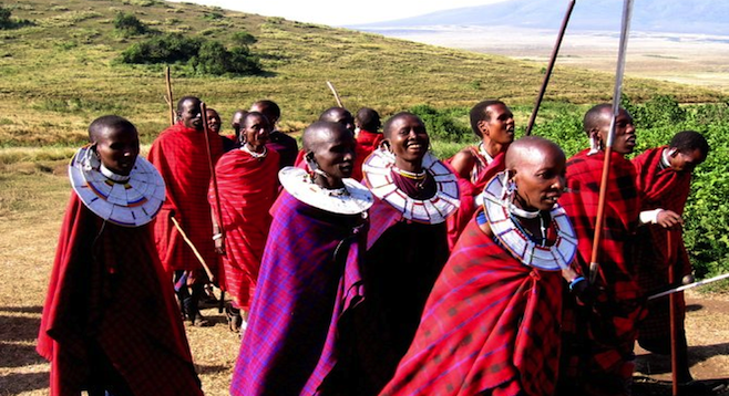 A Maasai welcome.