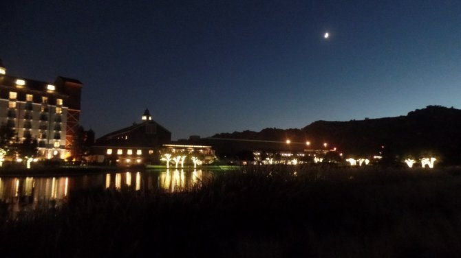 Crescent moon makes a nite of lite romantic on Barona Casino golf course.