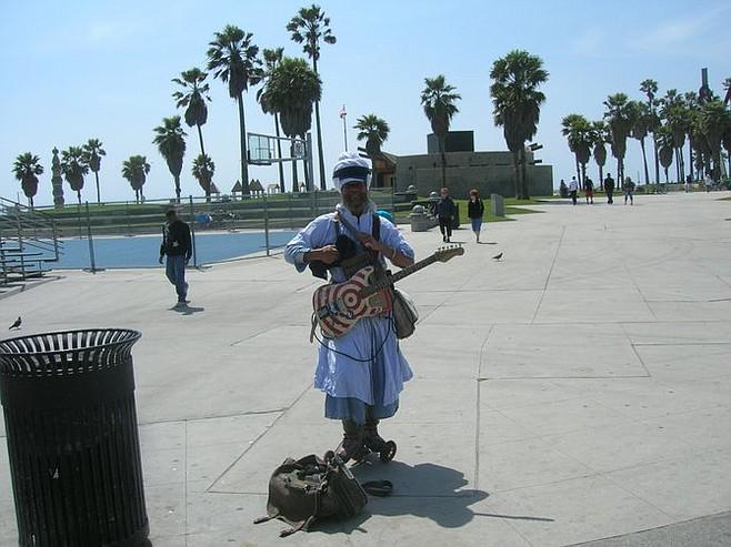 Venice street performer Harry Perry.