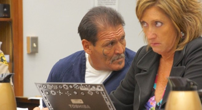 Alberto Serrato and defense attorney Deb Kirkwood