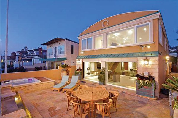 That's a patio on 35 feet of ocean frontage in the heart of Del Mar